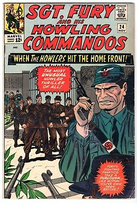 Sgt. Fury and His Howling Commandos #24, Very Good - Fine Condition