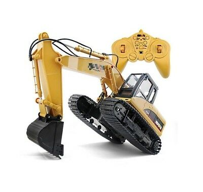 15 Channel 2.4G 1/14 RC Excavator RC Car With Battery RC Alloy Excavator RTR