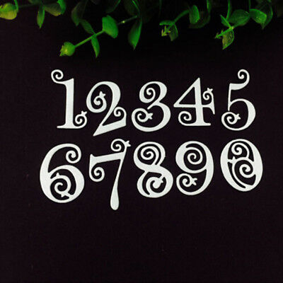 Lace Numbers Metal Cutting Dies Stencil Scrapbooking Embossing Paper Card 8C