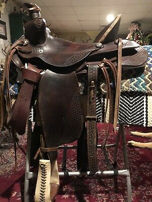 1800'S REPLICA WESTERN High Back Saddle 16'' Seat - $260 00
