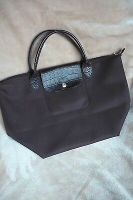 24fb99b5b86fa Longchamp le pliage Nylon + Handtasche + Shopping Bag Gr. S braun  +Sonderedition