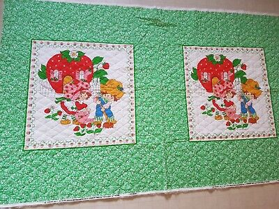 Vintage Strawberry Shortcake 1980 Amercian Greetings Baby Quilt Piece Material