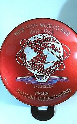 New York Worlds Fair 1964-1965 Bowl Plate Unisphere Peace Through Understanding
