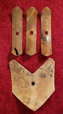 Lot of 4 Vintage Planet Jr 2367,2539 Cultivator Spade Shovel,Garden Push Plow