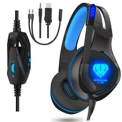 Gaming Headset With Mic Fortnite Gamer LED Headphones Boys For Xbox One PS4 PC