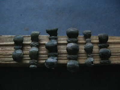 6 Pieces Of Astragalus Ancient Celtic Bronze Warriors Belt Decorations 700-500Bc
