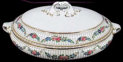 Antique Booths Silicon China Oval Covered Vegetable Dish #9852 Discontinued
