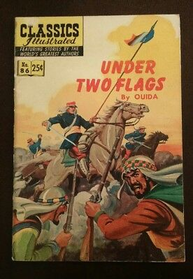 Classic Illustrated #86 High Grade Issue- Under Two Flags HRN 169