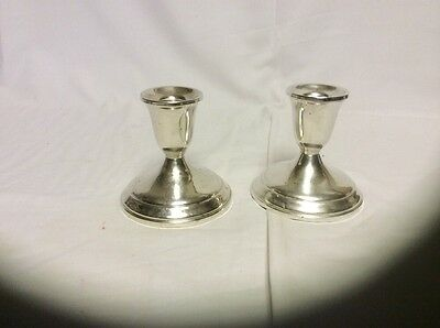Vintage Towle pair of Sterling Silver candle holders # 701
