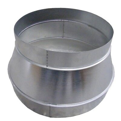 Reducing Piece 450 mm to 355 mm Reduction Spiral Ducts Zinc Plated