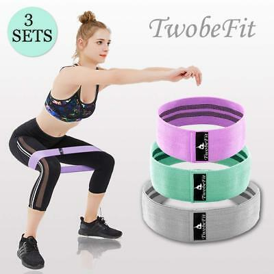 Resistance Hip Bands Booty Exercise Workout Fitness Non-Slip Set of 3 S M L