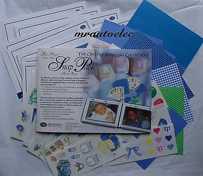 Creative Memories It's a Boy Snap Pack Blue Baby Son Page Layout Ideas Stickers