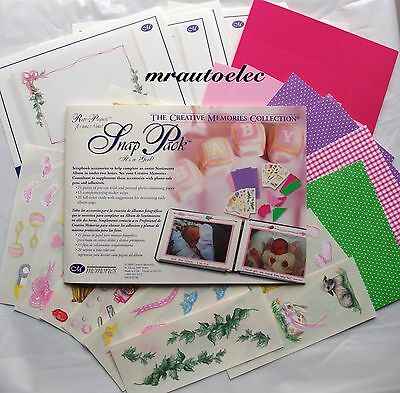 Creative Memories It's a Girl Snap Pack Pink Baby daughter Page Layout Ideas