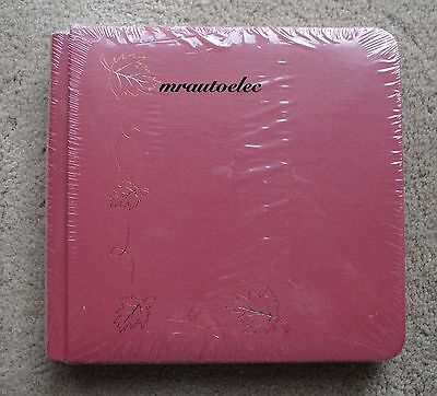 Creative Memories Brick Red 7x7 Album WITH PAGES & decorative red Foil Design