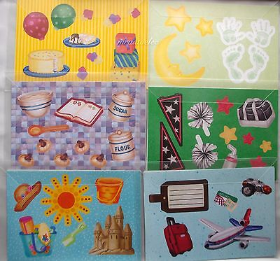 Creative Memories TTY Page Die Cut Kits X 6 travel baby Party Bake Sun Sports