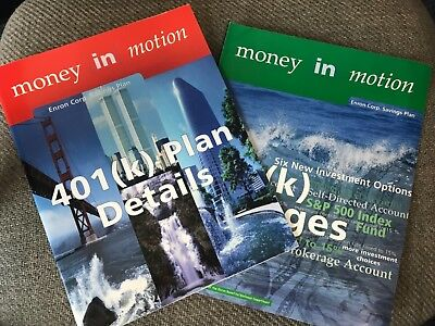 RARE Enron Scandal Authentic Employee 1999 401k SAVINGS PLAN BROCHURES/BOOKLETS!