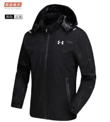 Under Armour Mens New Outdoor Jacket Windproof Rainproof Hooded Thin Windbreaker