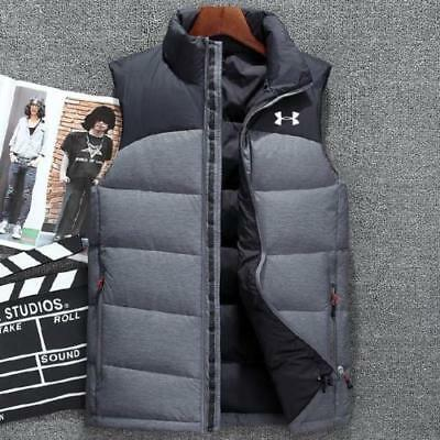 Under Armour Men Fashion Down Vest Coat  White Duck Down Outwear Jacket Vest