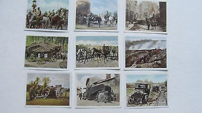 Nice Lot of 9 Scarce Dated WWI German Military Cigarette Cards, Salem, WWII