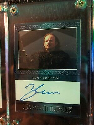 2016 Game Of Thrones Season 5 Ben Crompton Eddison Tollett Card Autograph W Case