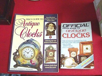 Lot Of Two Antique Clocks Price Guide Books.  Solf Cover Books