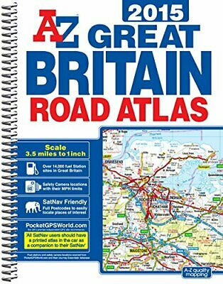 Great Britain Road Atlas Spiral 2015 by Geographers A-Z Map Co Ltd Book The