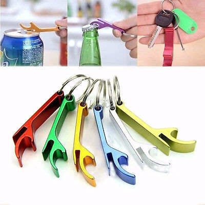 1PCS Bottle Opener Key Ring Chain Keyring Keychain Metal Beer Bar Tool Claw