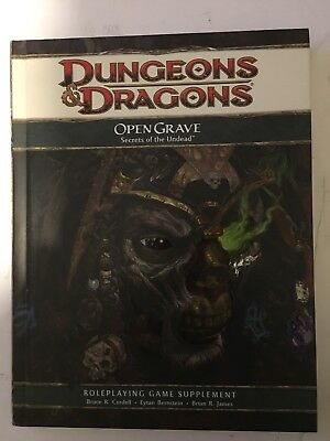 D&D 4th Edition Open Grave Secrets of the Undead Book NEW Roleplaying d20 4.0