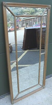 Vintage Pine-Framed Wall Mirror in the Antique Style