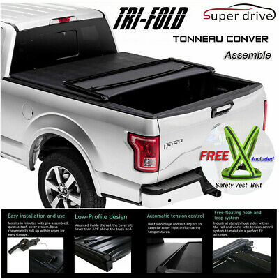 Fits 1999-2006 Chevy Silverado Assemble Tri-Fold Solid Tonneau Cover 6.5ft Bed