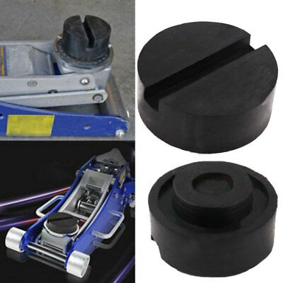 Universal Rubber Car Auto Cross Slotted Frame Rail Floor Jack Disk Pad Adapter