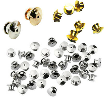 10-100 Pcs Locking Flathead Lapel Pin Back Clutch Clasp Fastener Accessories UK