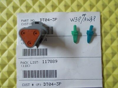 DEUTSCH DT04-3P DT Series 3-Way Receptacle & W3P or AW3P Wedgelock