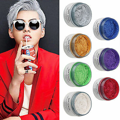 DIY Unisex Hair Color Wax Mud Dye Cream Temporary Modeling 7 Colors Available