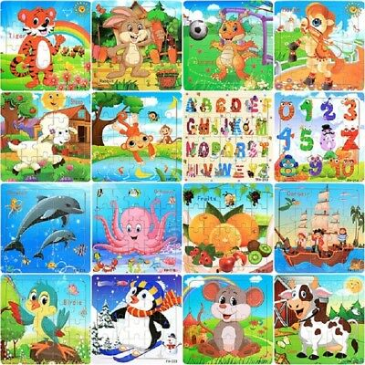Gift Puzzle Toy Wooden Educational Developmental Child Training Cute 20Pieces