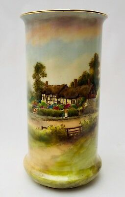 Royal Worcester Anne Hathaway's Vase Artist Signature W.Long To Main Body c.6""""