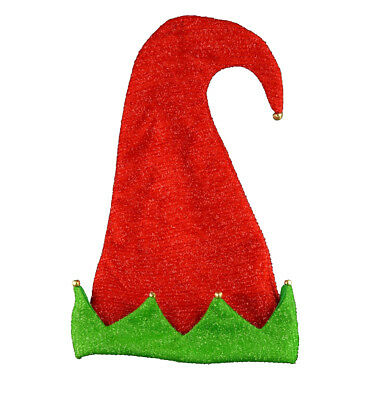 Red /& White Adult Tall Christmas Hat Giant Big Fluffy Deluxe Fancy Dress