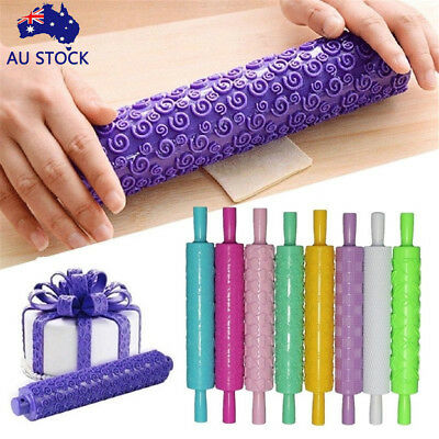 AU 2018 New Christmas Rolling Pin Engraved Rolling Pin DIY Embossed Rolling Pin