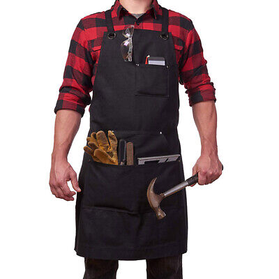 Waxed Canvas Work Shop Apron Heavy Duty Woodworking Reapairing Welding Workshop
