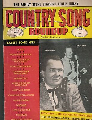Country Song Roundup November 1962 Don Gibson Ferlin Husky Everly Brothers