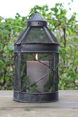 Lantern Wire Mesh Candle Mosquito Coil Holder Old Fashioned Rustic Lighting