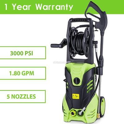 3000PSI Electric High Pressure Washer 2000W 1.8GPM Jet Sprayer Gun Water Cleaner