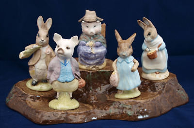 BEATRIX POTTER FIGURES BY NEW BESWICK BACKSTAMP BP10a, BP10b - SELECT FIGURE