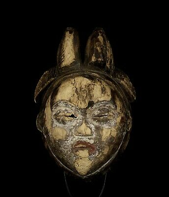 Heavily weathered PUNU Mask. Gabon. (African Tribal Art).