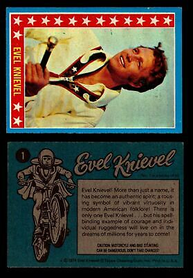 Evel Knievel Topps 1974 Vintage Trading Cards You Pick Singles #1-60