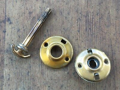 Lot of Vintage Copper Brass Door Parts - Antique Door Knob set or Backplate