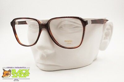 GRIFFI Made in Italy Vintage 70s men monsieur glasses frame, Brown acetate, NOS