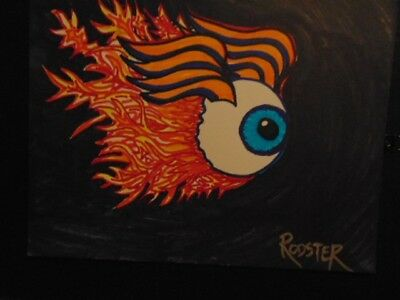 Flaming Eye No4  by the artist Rodster 11 X 8.5 - Ink drawing