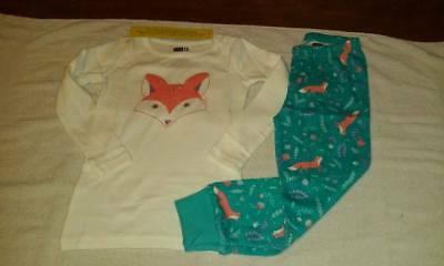 NEW Girl's Crazy 8 Fox Print long sleeve Pajamas Sizes 5, 7 & 8
