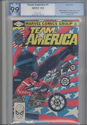 Team America #1  PGX 9.9 Mint  1982 (Before CGC)  Motorcycle Comic: Price Drop!